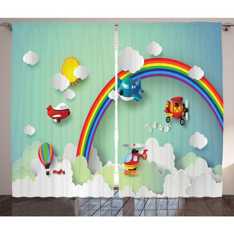 Rainbow Sunny Sky Baby Curtain