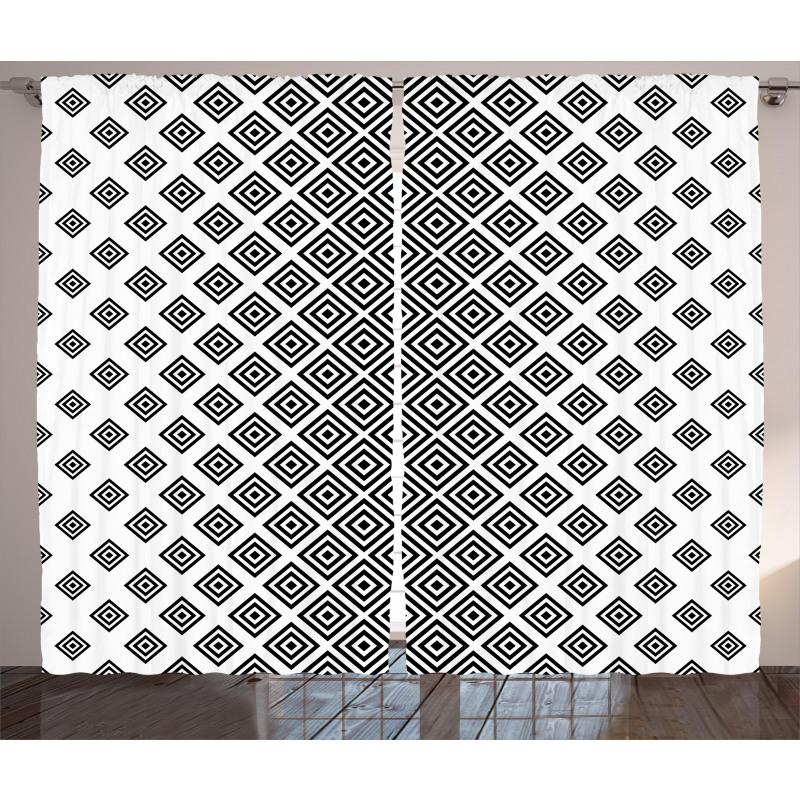 Square Shape Geometric Curtain