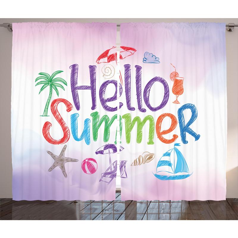 Summer Motivational Curtain