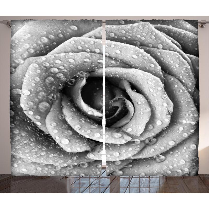 Retro Romance Rose Petal Curtain