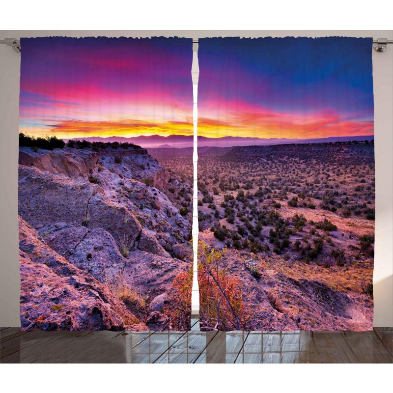 Sunrise Sky Horizon Dusk Curtain