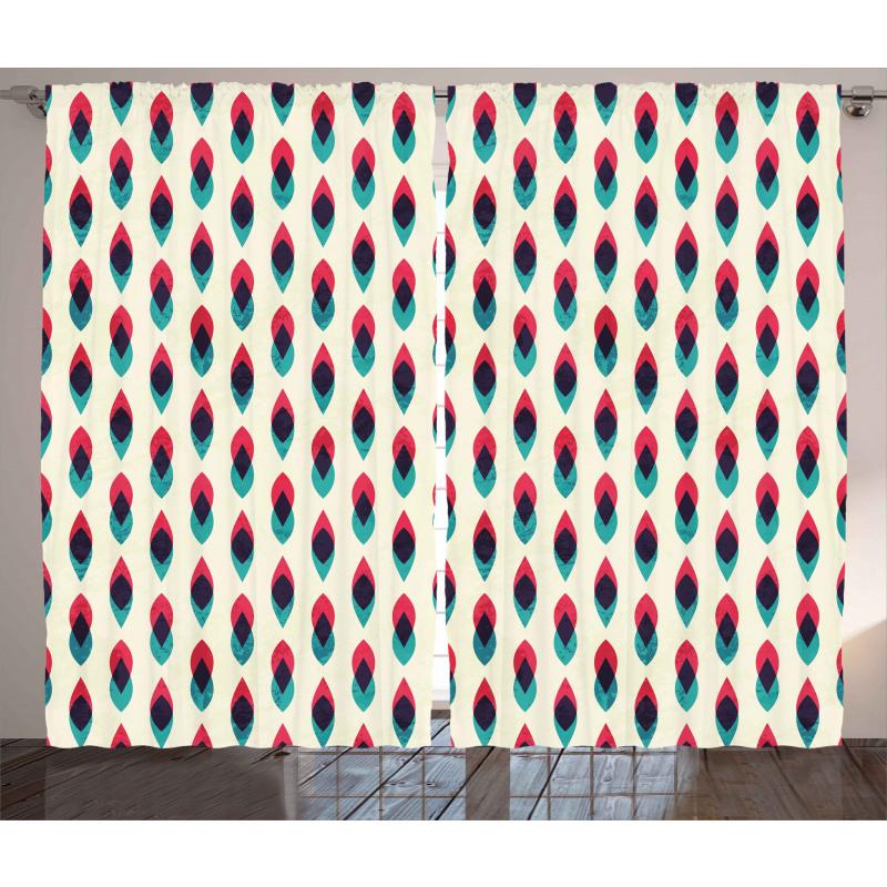Geometric Curve Pattern Curtain