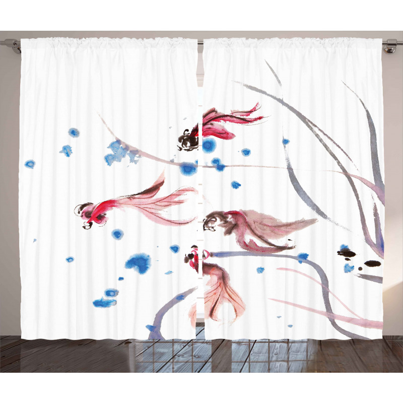 Traditional Ink Painting Curtain