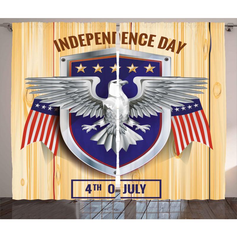 American Bald Eagle Curtain
