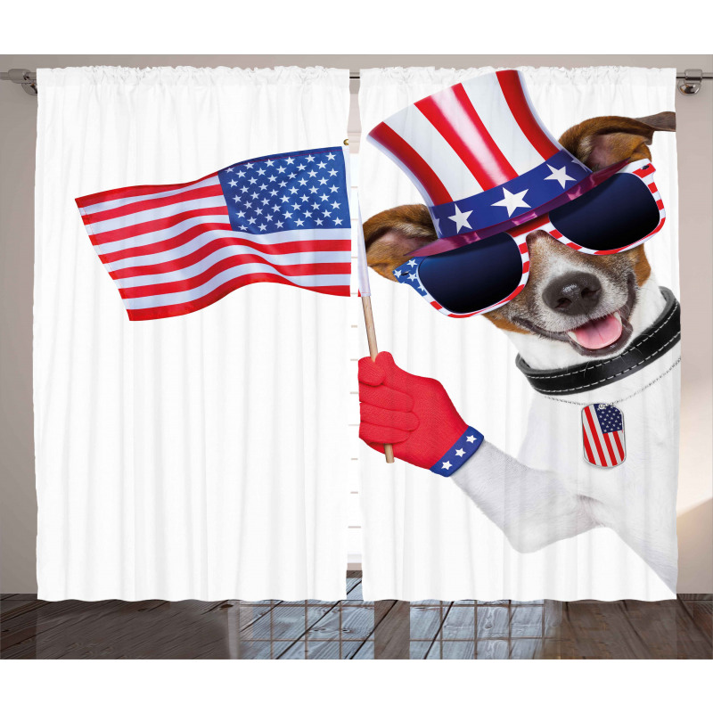 Patriotic Pet Dog Curtain