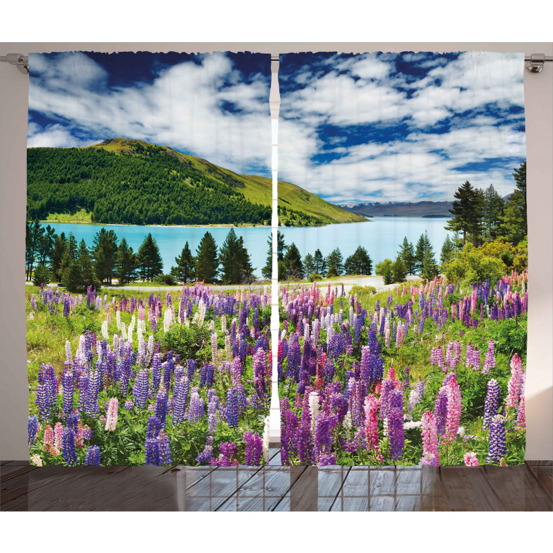 Lake Floral Petals Curtain