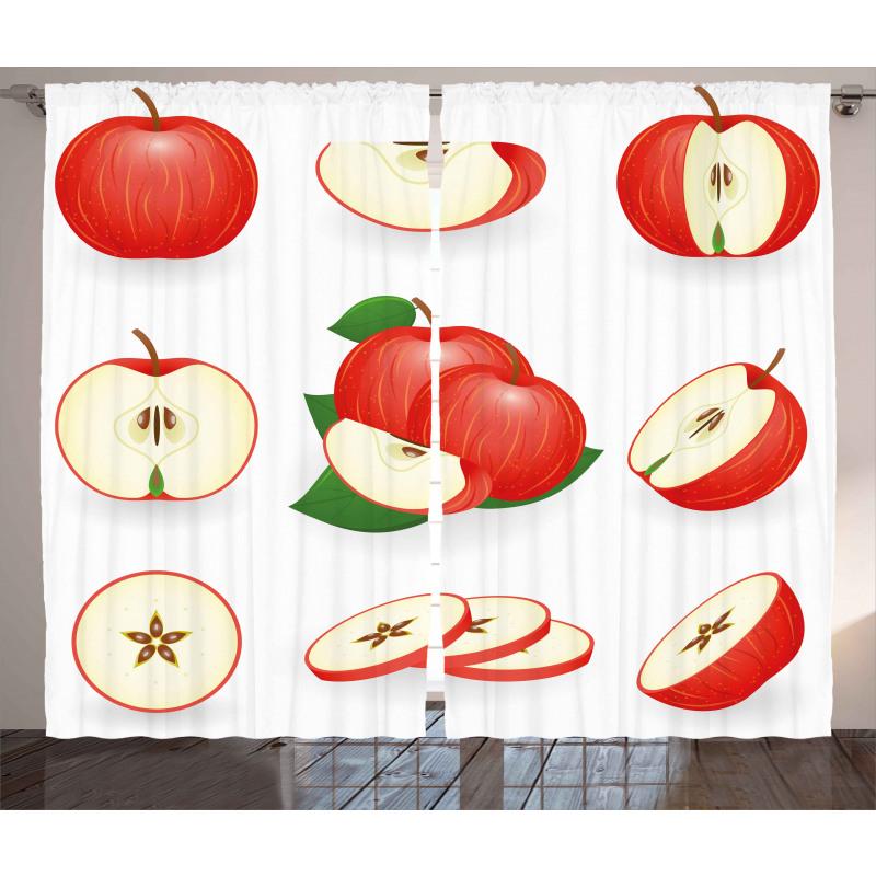 Juicy Fresh Fruits Nature Curtain