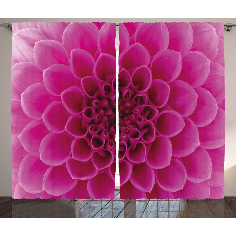 Fresh Bloom Petal Nature Curtain
