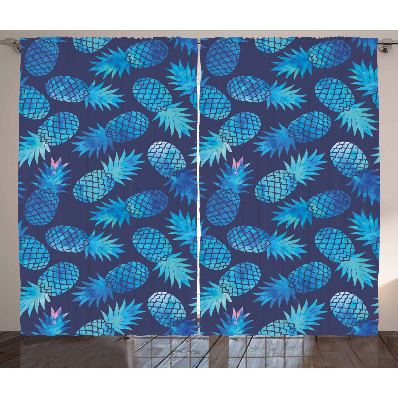 Exotic Pineapple Curtain
