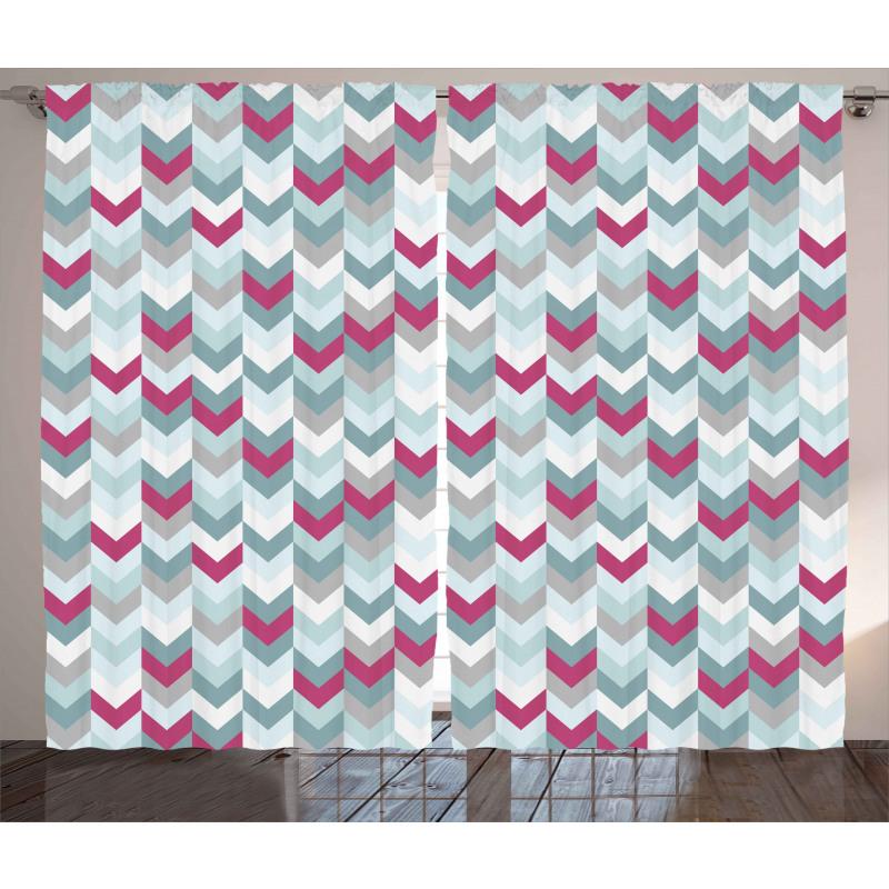 Symmetric Stripes Arrow Curtain