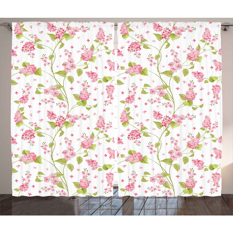 Nature Blossom Buds Curtain