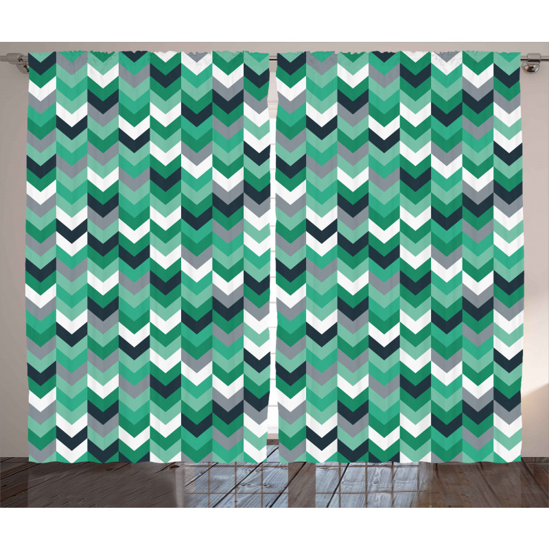 Symmetric Zig Zag Lines Curtain
