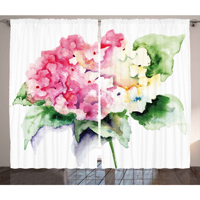 Hydrangea Flower Bouquet Curtain