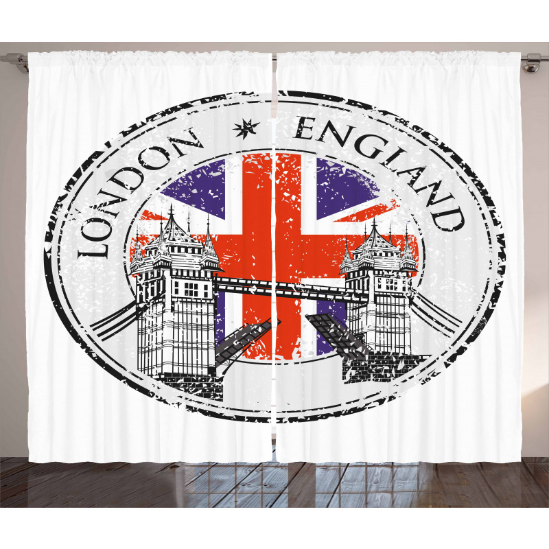 Flag Nostalgic National Curtain