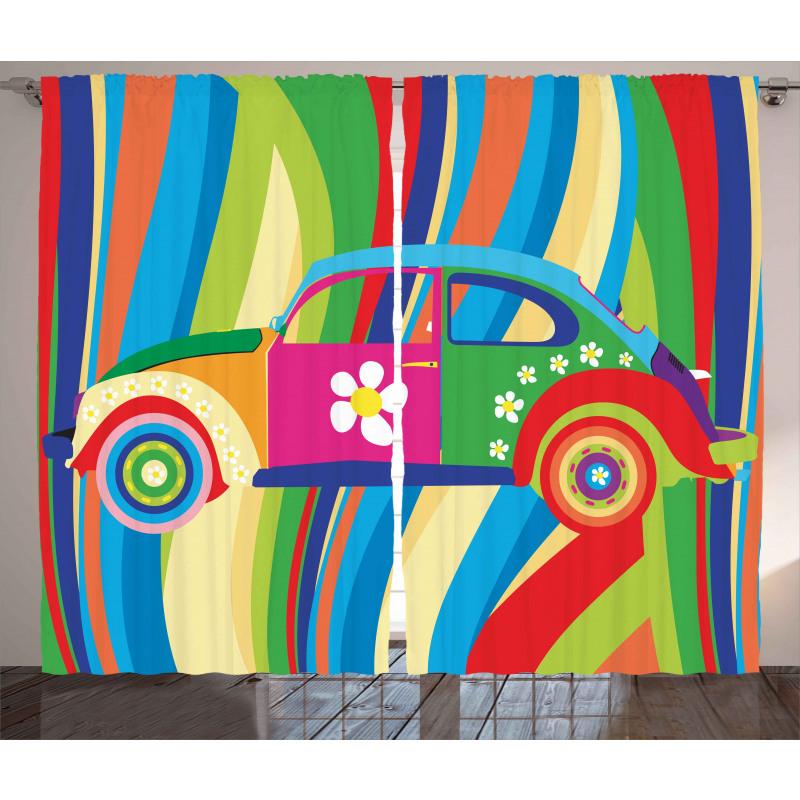 Hippie Style Classic Car Curtain