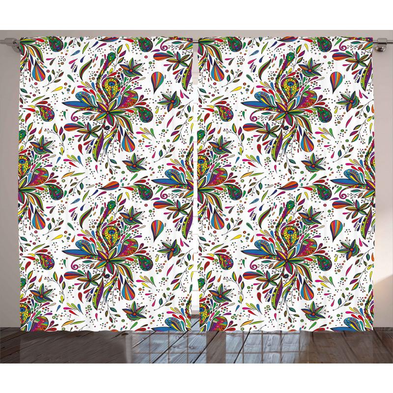 Flora Pattern Curtain