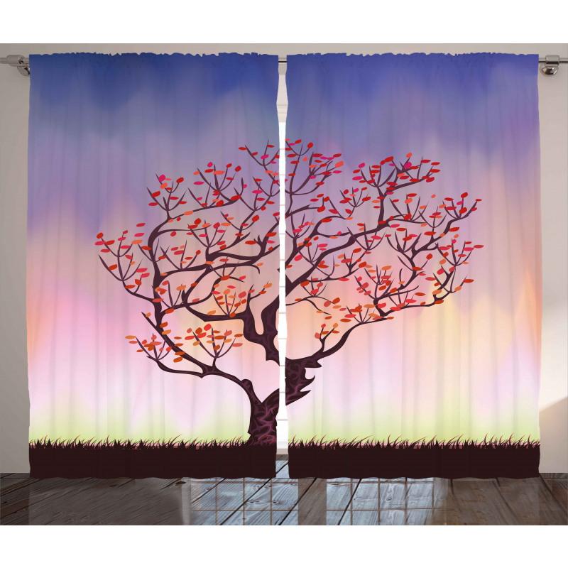 Sunset Rise Morning Scene Curtain