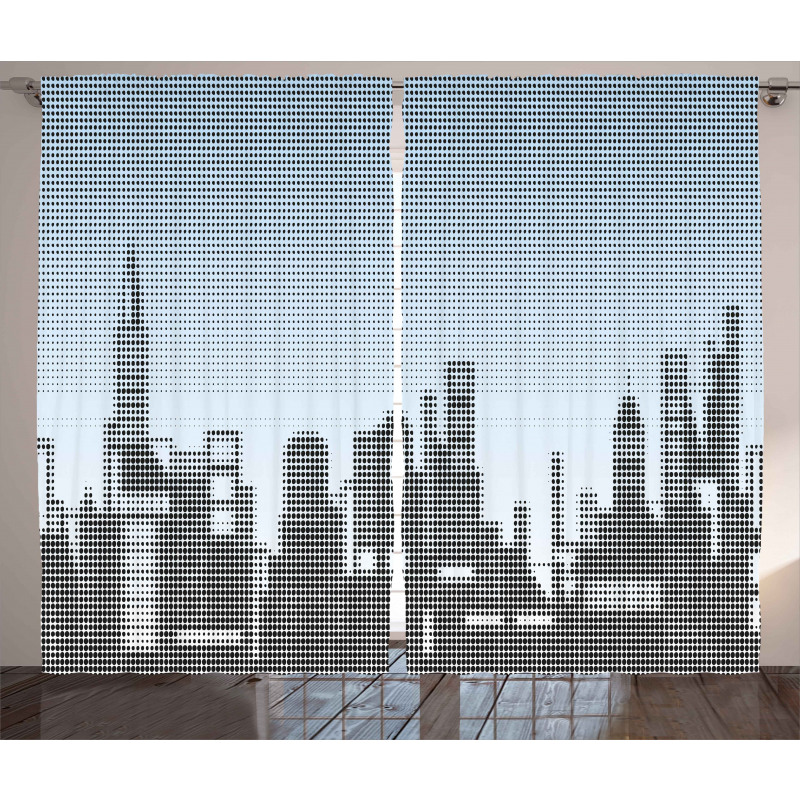 City Skyline Futuristic Curtain