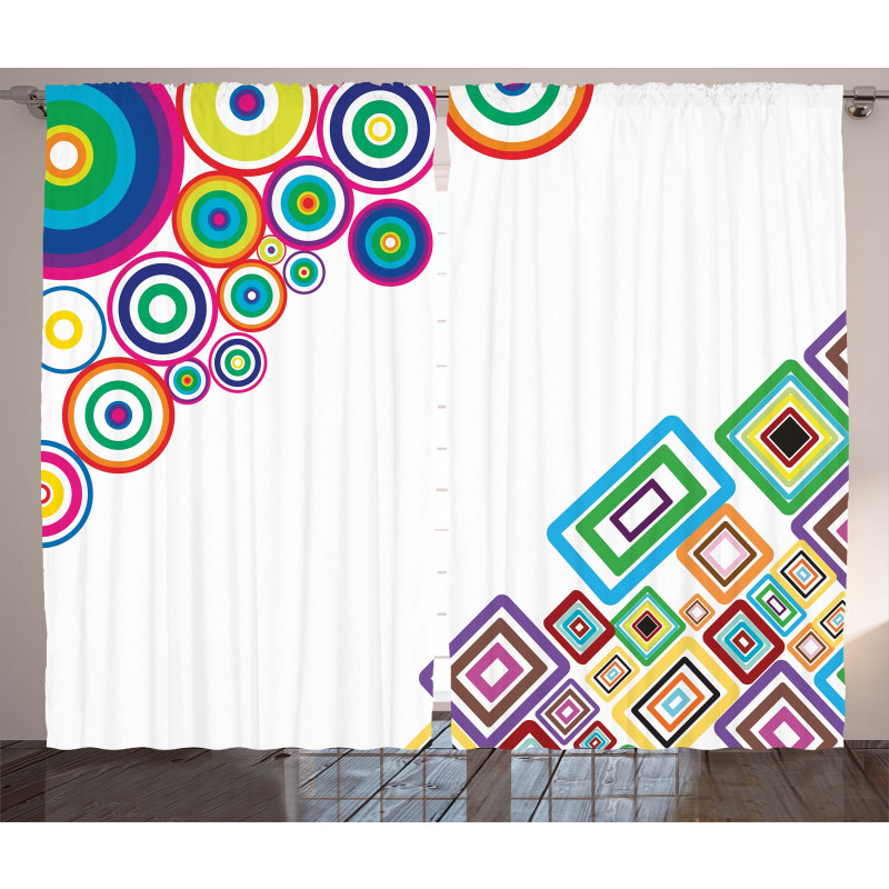 Colored Rectangle Form Curtain