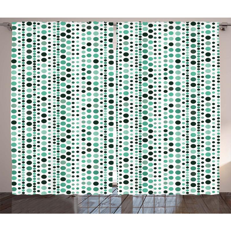 Geometrical Circles Dots Curtain