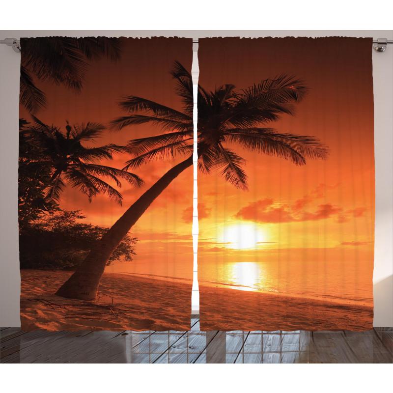 Twilight Coconut Palms Curtain