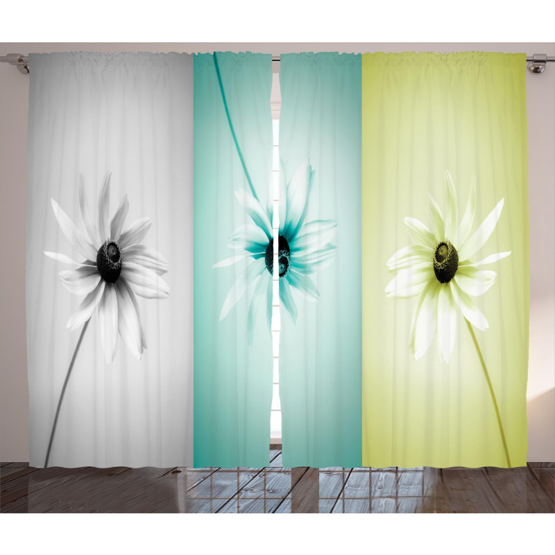 Different Daisy Flower Curtain