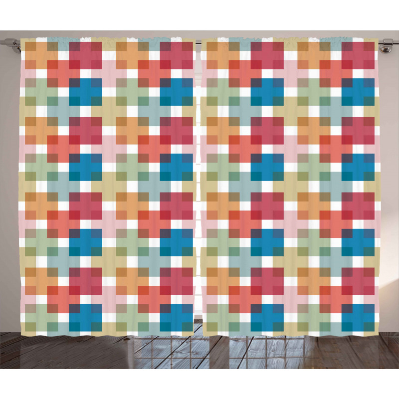 Wall or Floor Squares Curtain