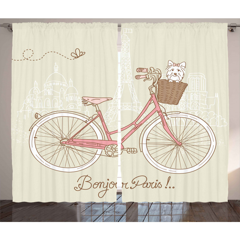 Postcard from Paris Bicycle Curtain
