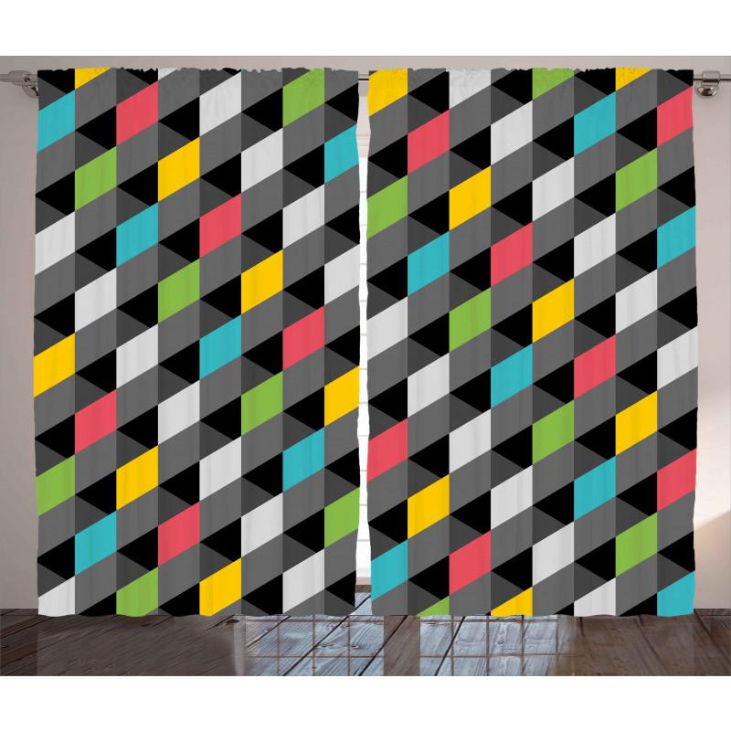 Abstract Art Style Curtain