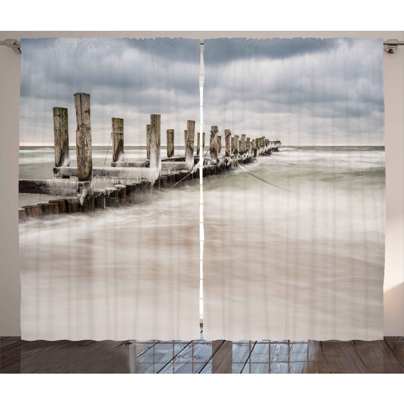Groyne Zingst Germany Curtain