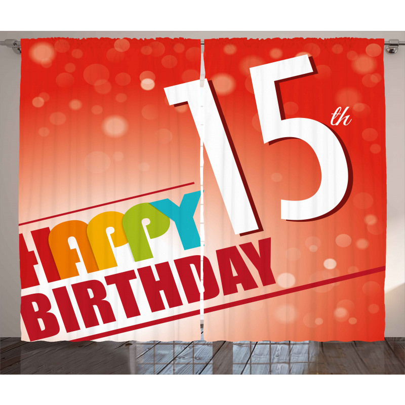 15th Birthday Concept Curtain