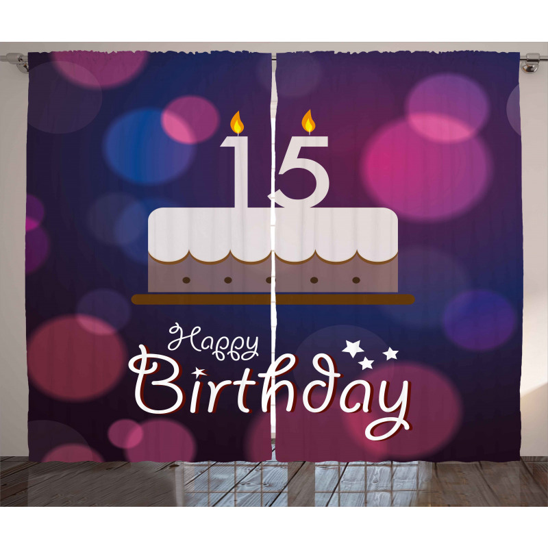 15 Birthday Cake Curtain