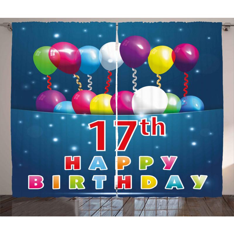 17 Birthday Curtain