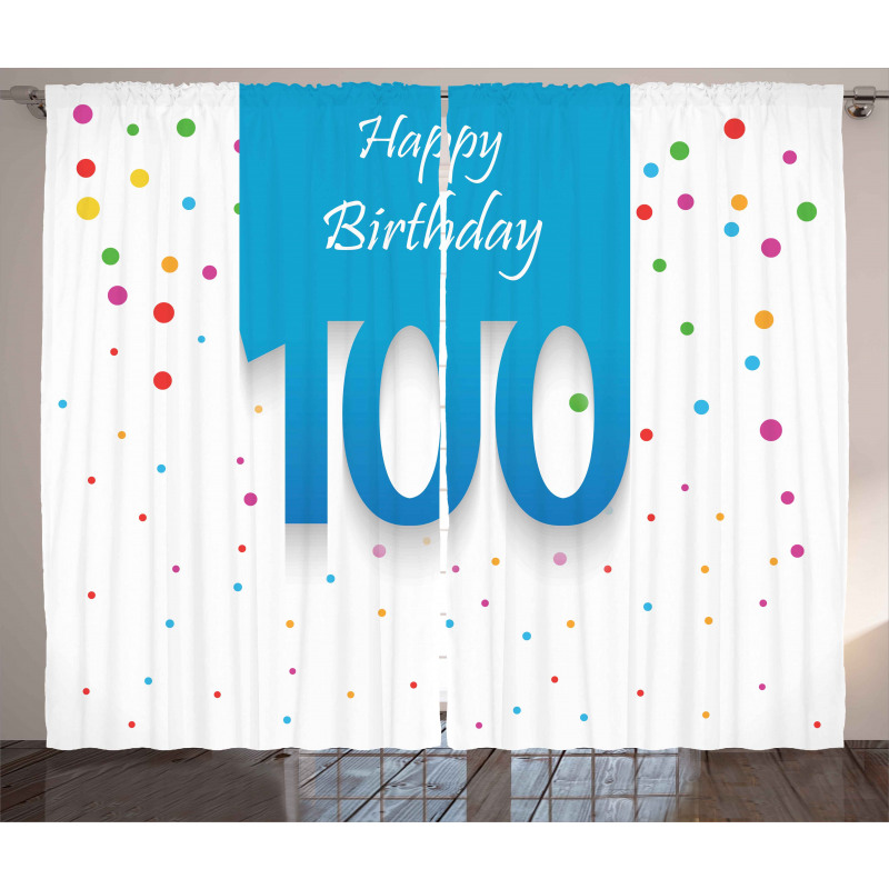 100 Years Birthday Curtain