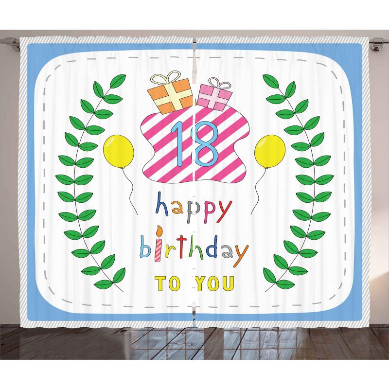 18 Birthday Curtain