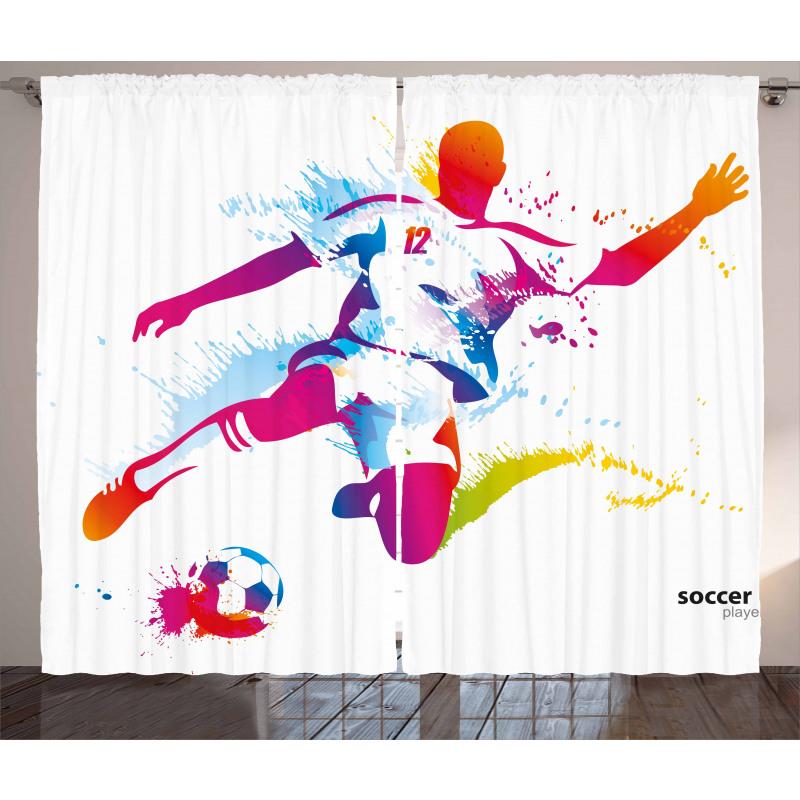 Spor Perde Çalım Yapan Futbolcu