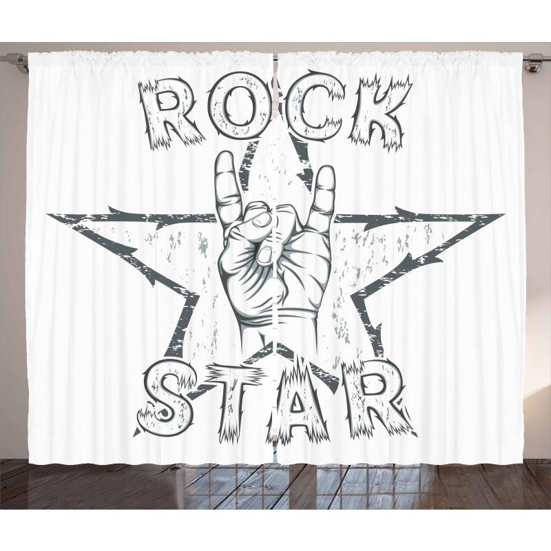 Rock Star Gesture Curtain