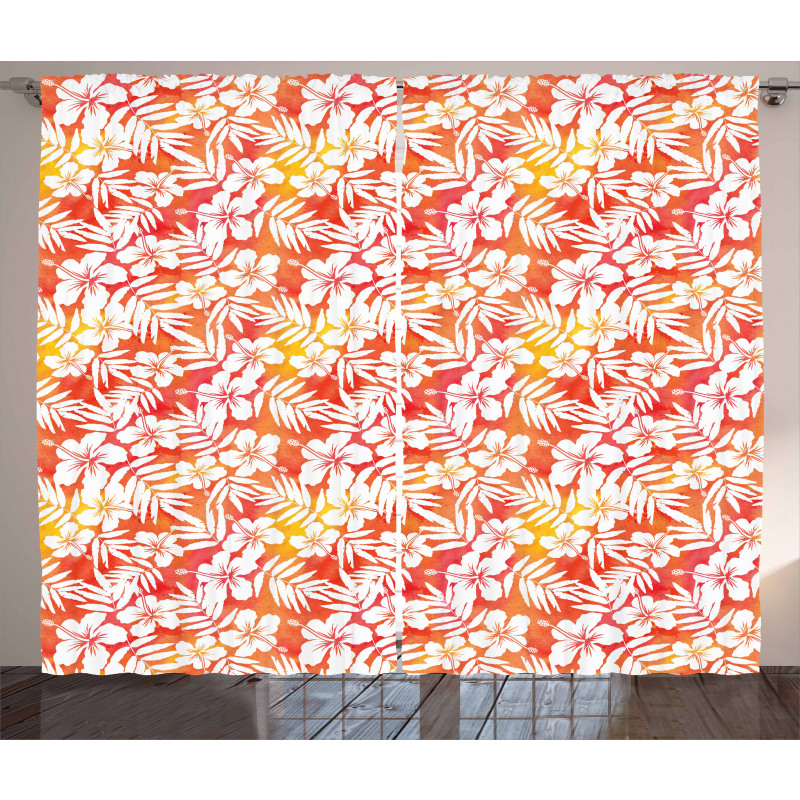 Fantasy Watercolor Aloha Curtain
