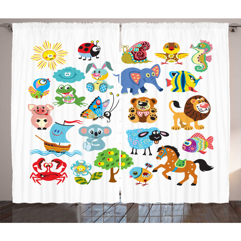 Various Animal Curtain