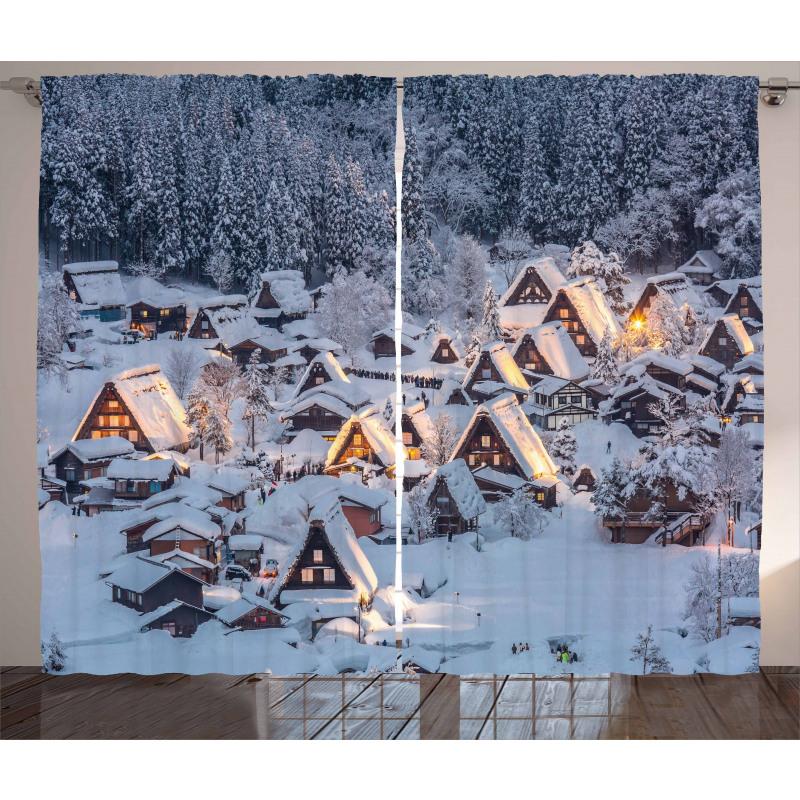Shirakawago Village Curtain