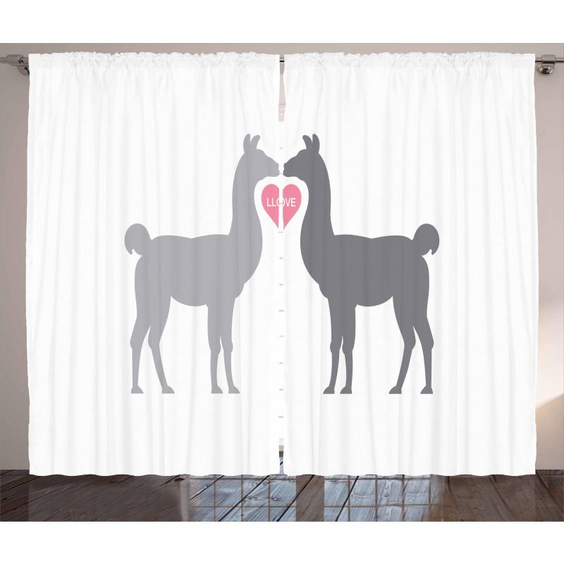 2 Animals in Love Curtain