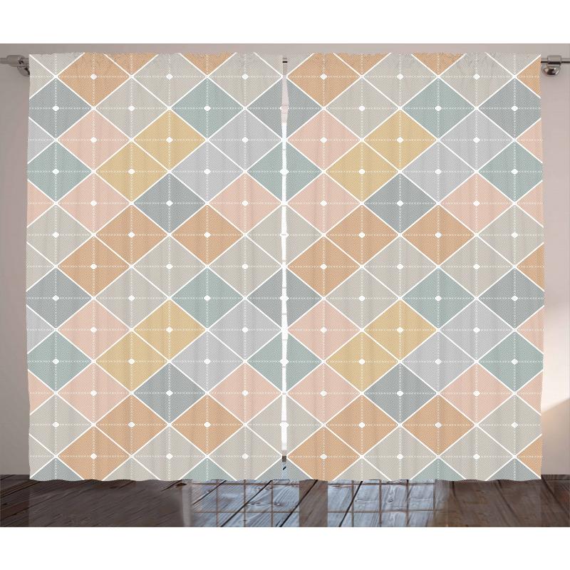 Rhombus Forms Curtain