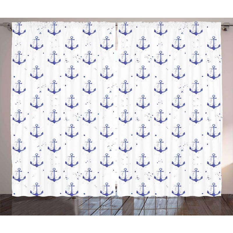 Aquarelle Marine Curtain