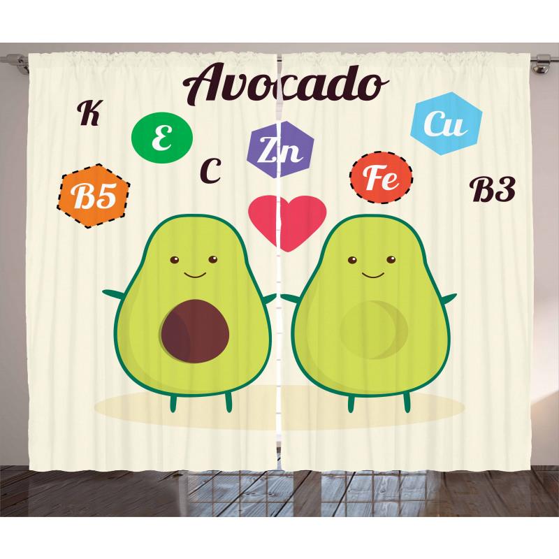 Avokado Perde Çocuksu Sağlıklı Meyvelerin Mineralleri