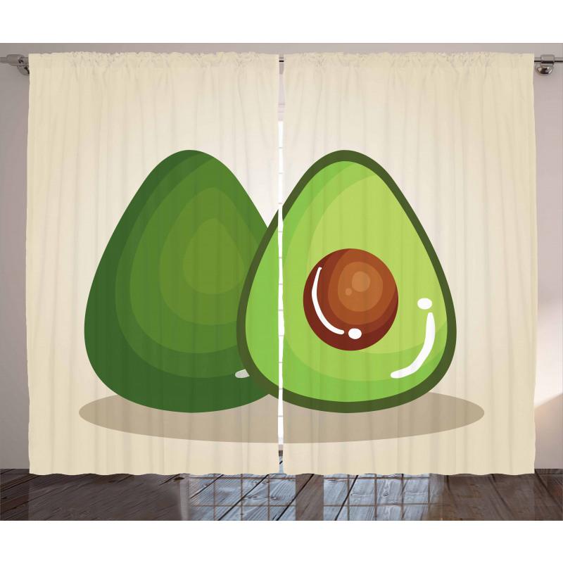 Avokado Perde İçindeki Çekirdeği Parlayan Sağlıklı Meyve