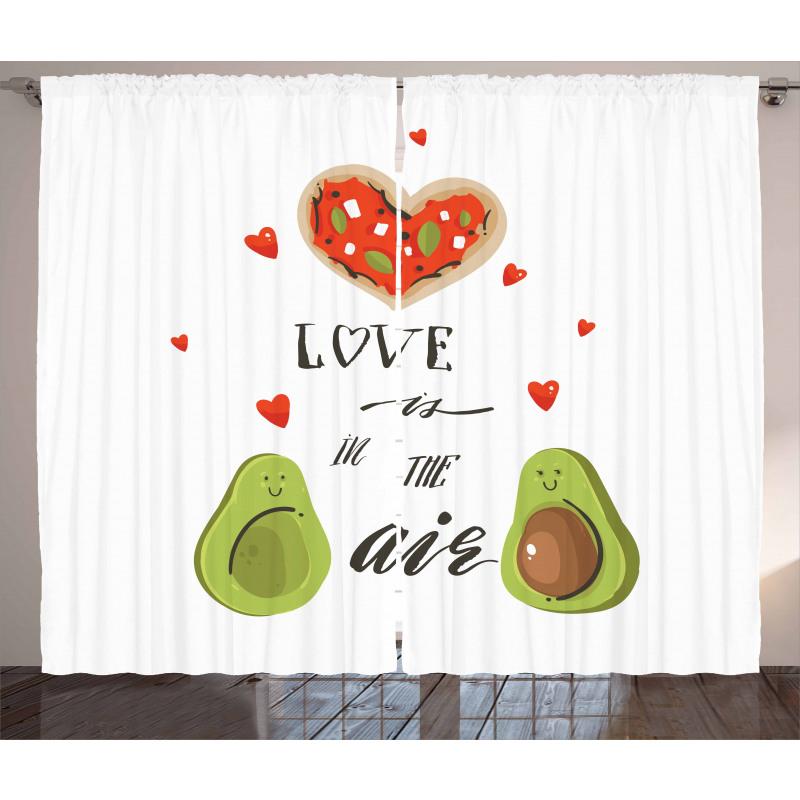 Avokado Perde Birbirlerine Aşık İki Sağlıklı Meyve Çift