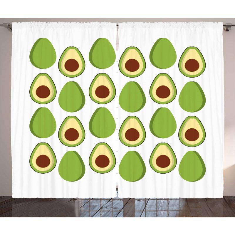 Avokado Perde Sağlıklı Meyvenin İçi ve Dışı Tekrarlı