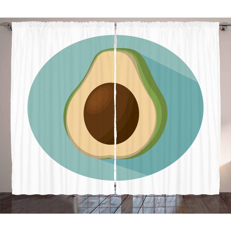 Avokado Perde Sade Arka Plan Üzerine Sağlıklı Meyve Model