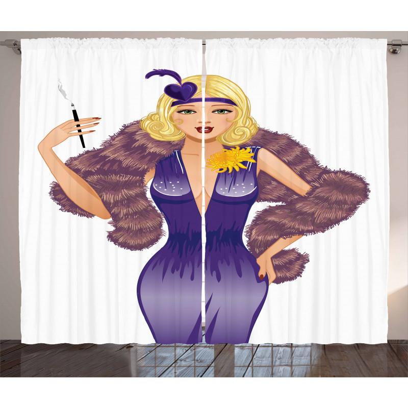 1930s Style Blondie Curtain