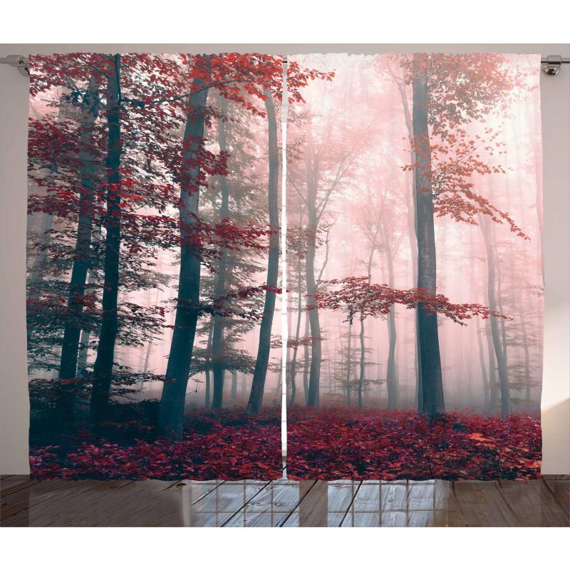 Autumn Fall Nature Woods Curtain